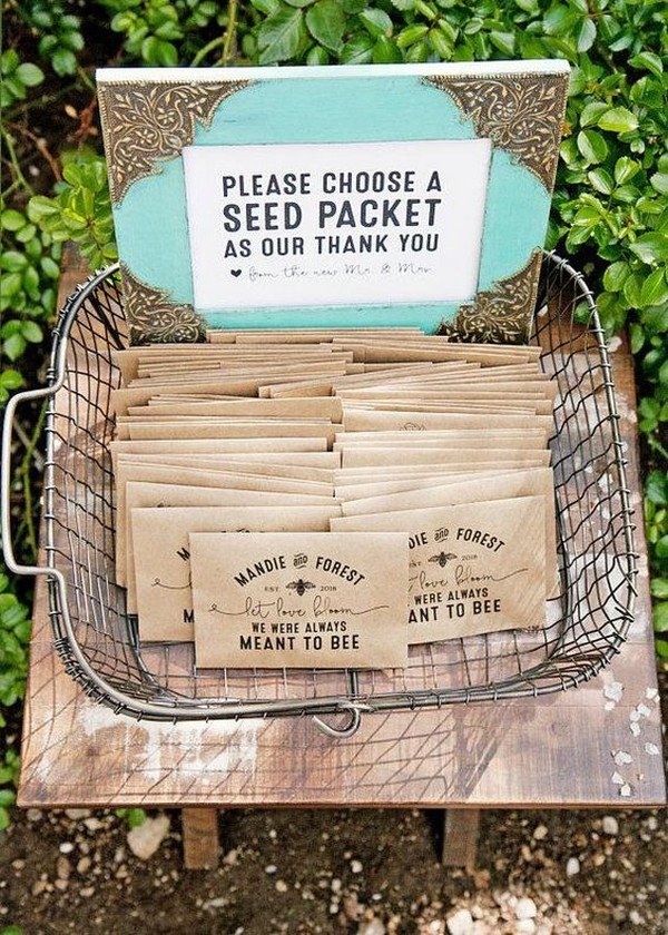 wildflower seed wedding favor packets