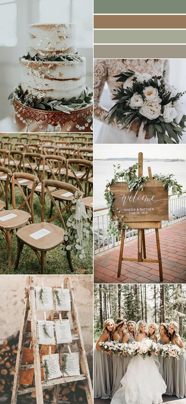 woodland greenery wedding color ideas