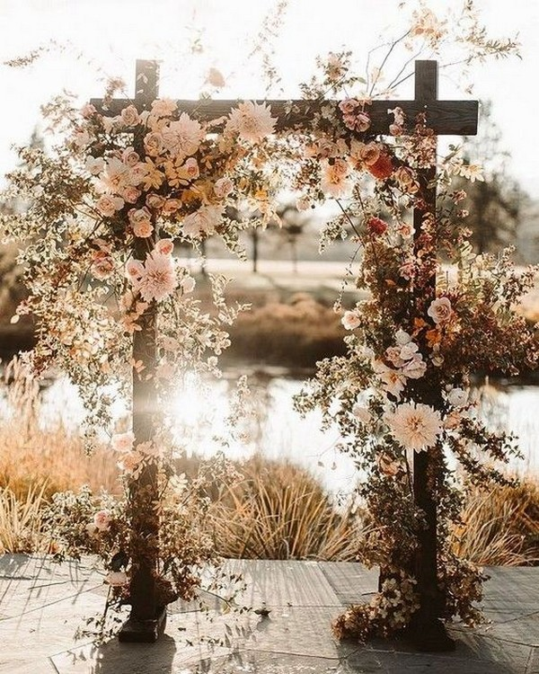 boho chic fall wedding arch