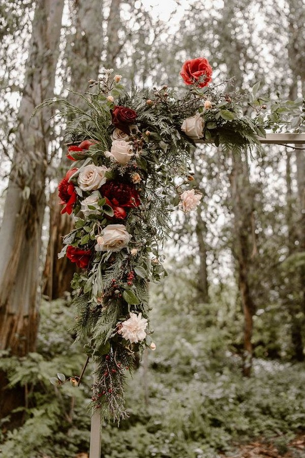 fall floral outdoor wedding arch ideas