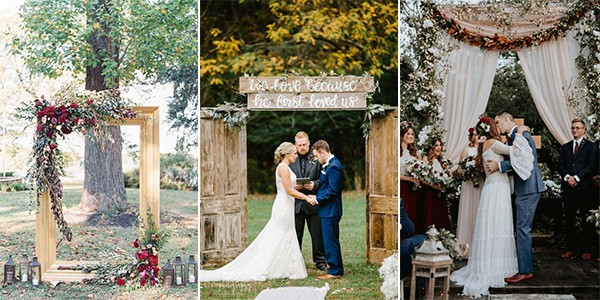 fall wedding arches