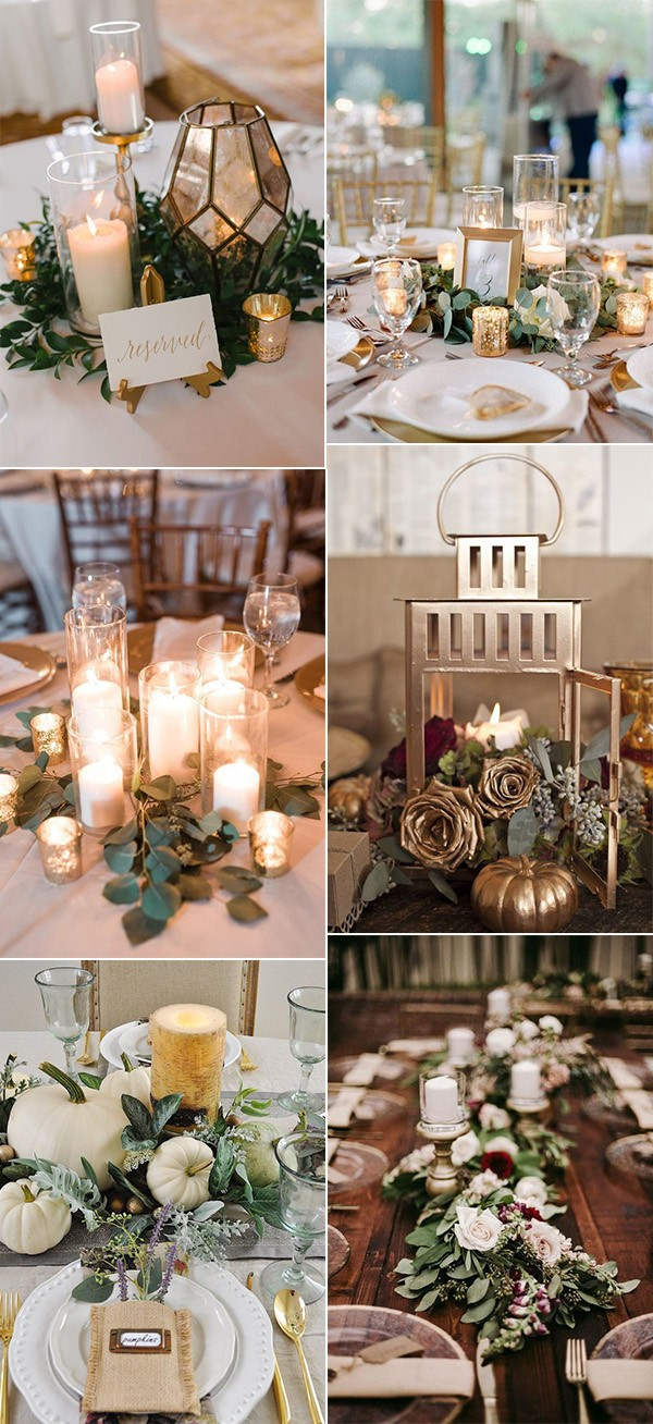 fall wedding centerpieces with candles for 2019