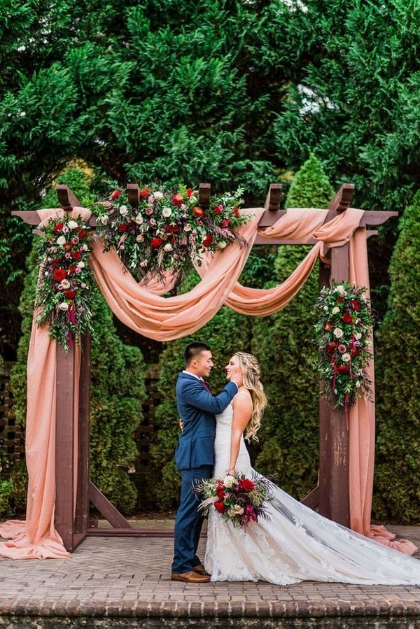 outdoor fall wedding arch ideas