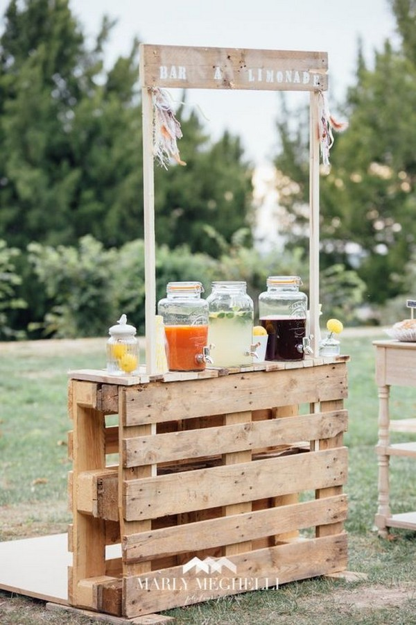 outdoor wedding drink station ideas