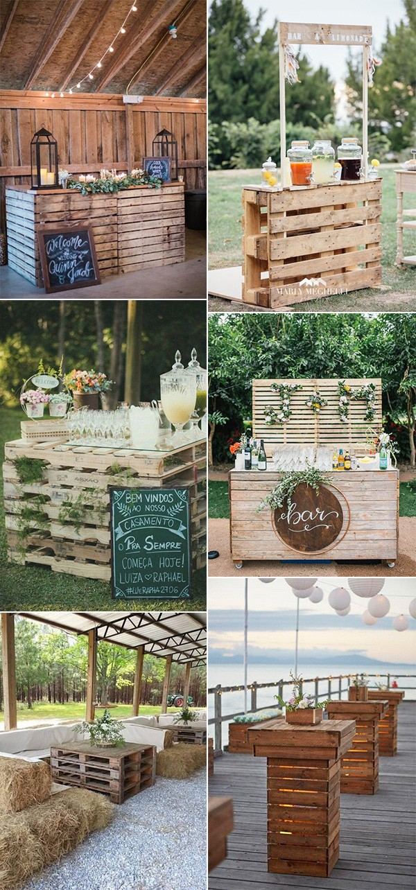 outdoor wedding reception ideas with wooden pallets