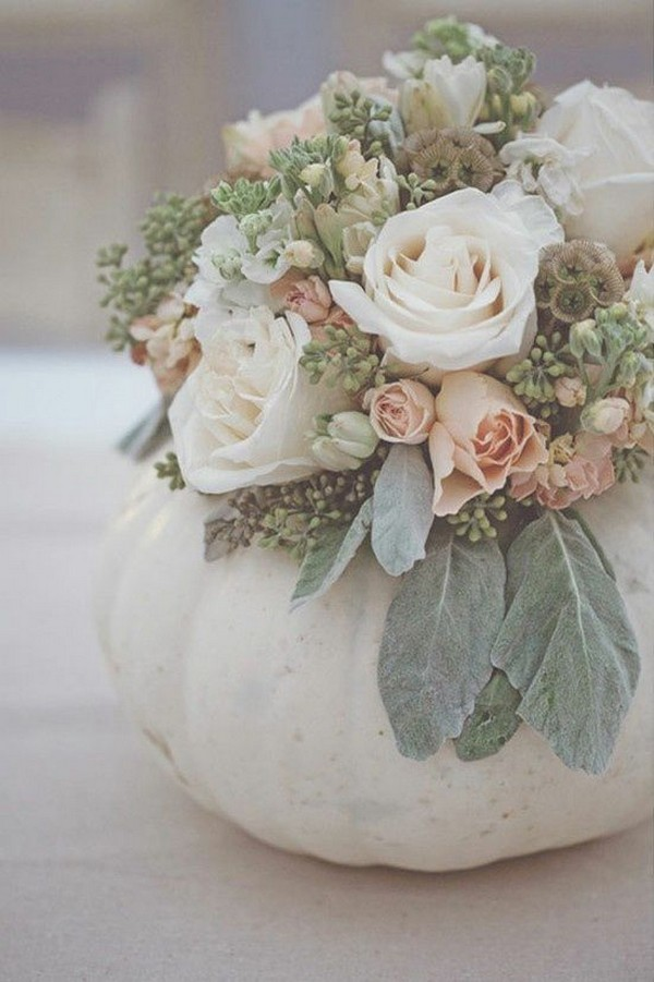 pumkin fall wedding centerpiece ideas