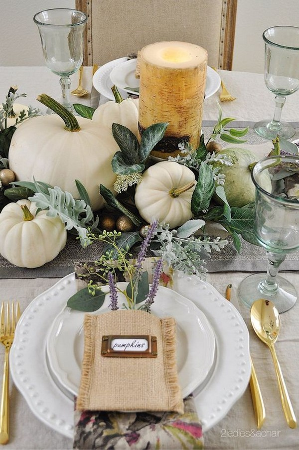 pumkins inspired fall wedding centerpiece ideas