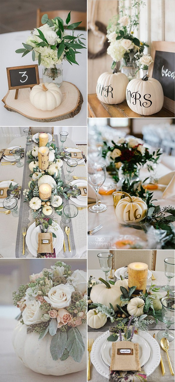 pumkins inspired fall wedding centerpieces for 2019