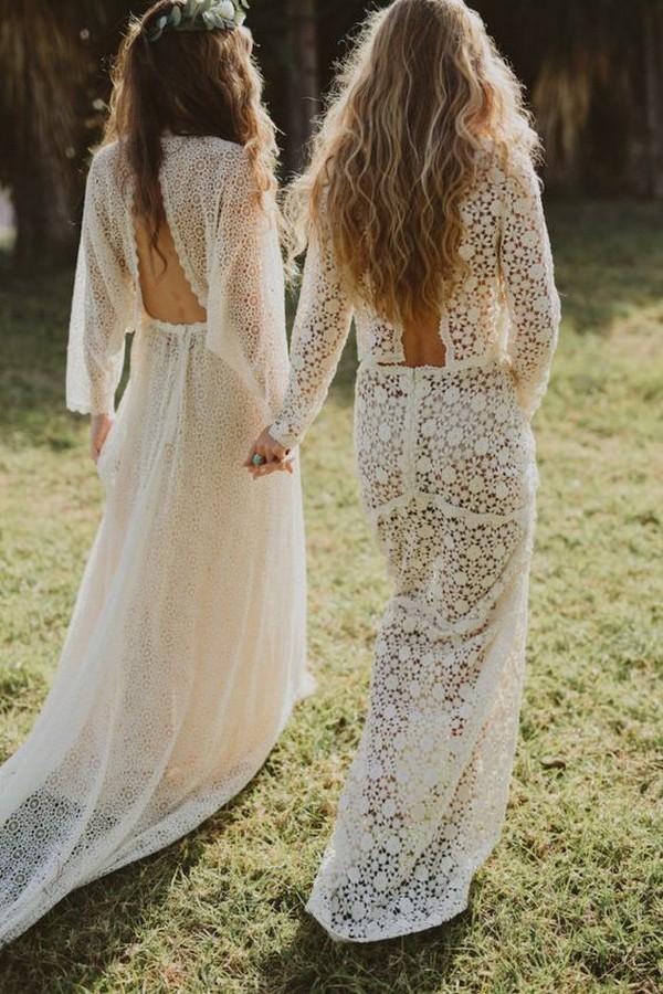 romantic boho chic wedding dresses