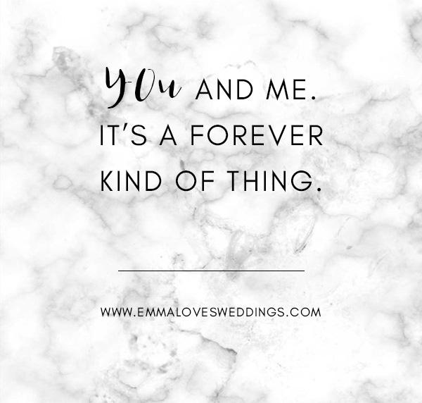 romantic love quote on wedding day