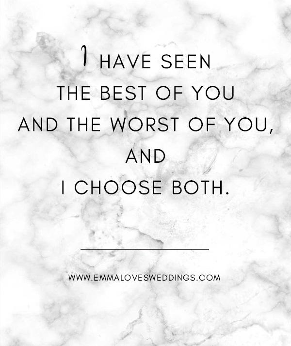 sweet romantic wedding love quote