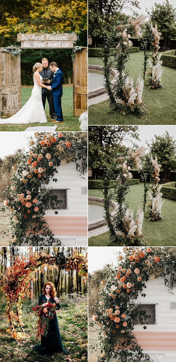 trending fall wedding arches