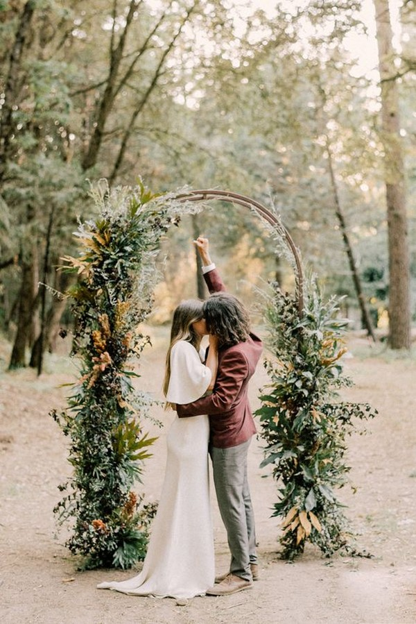 trending lush fall wedding arch ideas
