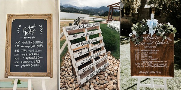 wedding timeline signs