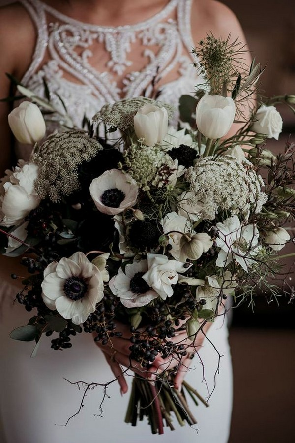 wild bohemian wedding bouquet