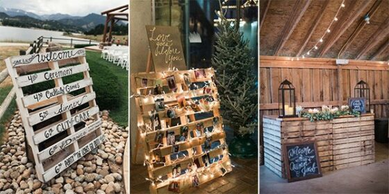 wooden pallets rustic wedding ideas