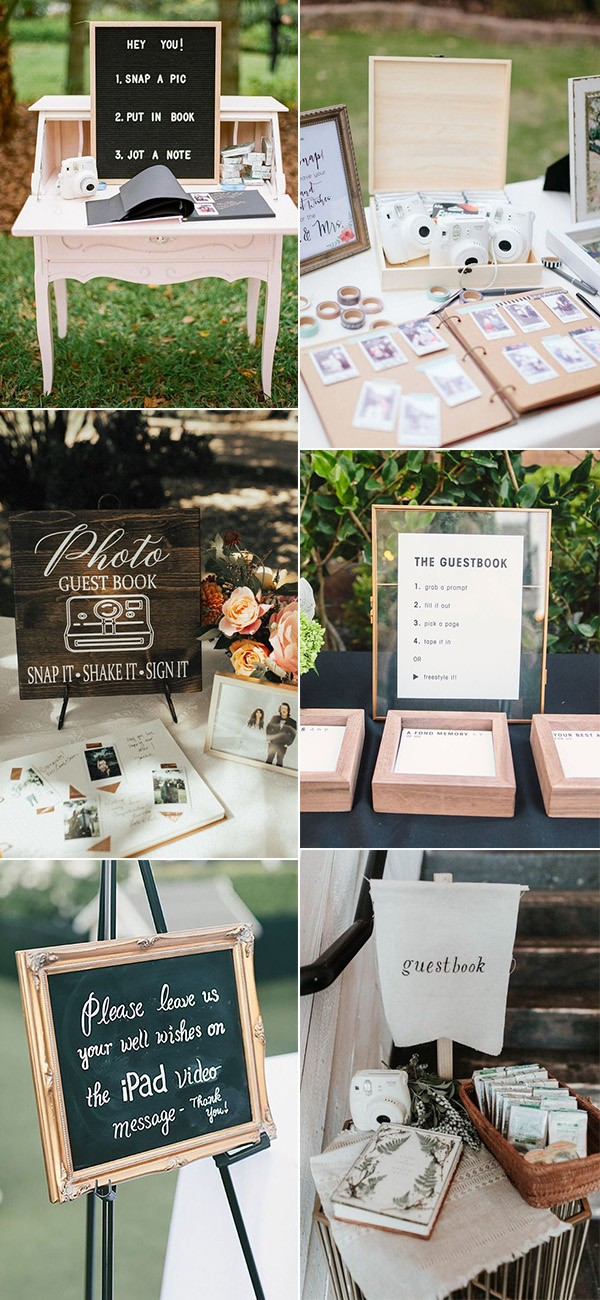 Polaroid creative wedding guest book ideas
