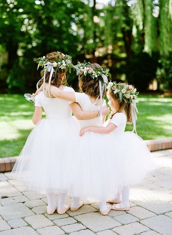 ball gown tulle flower girl dresses