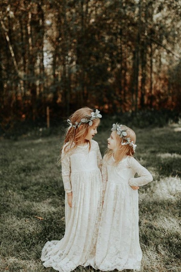 boho chic lace flower girl dresses