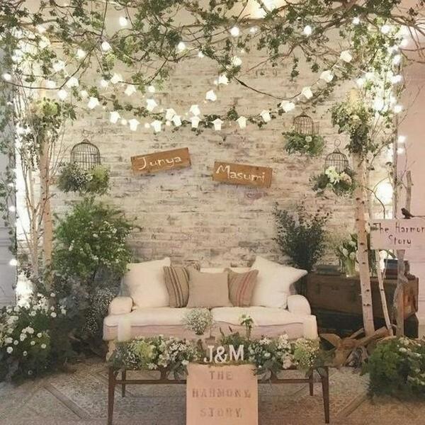 boho floral wedding photo booth ideas
