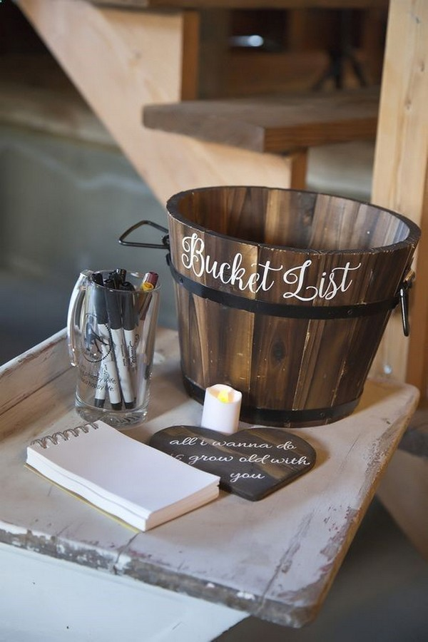 bucket list wedding guest book ideas