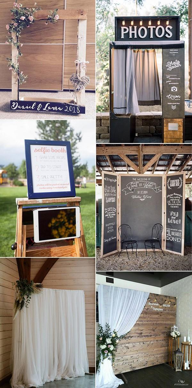 chic rustic wedding photo booths ideas