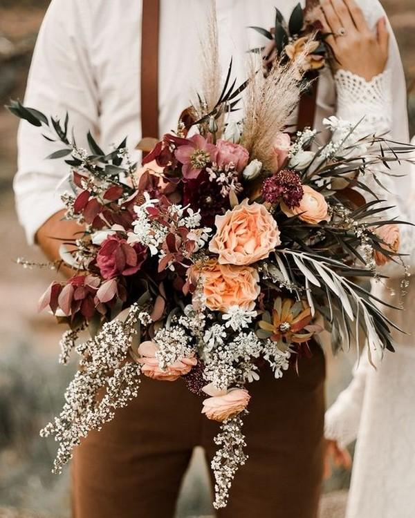 chic vintage boho fall wedding bouquet