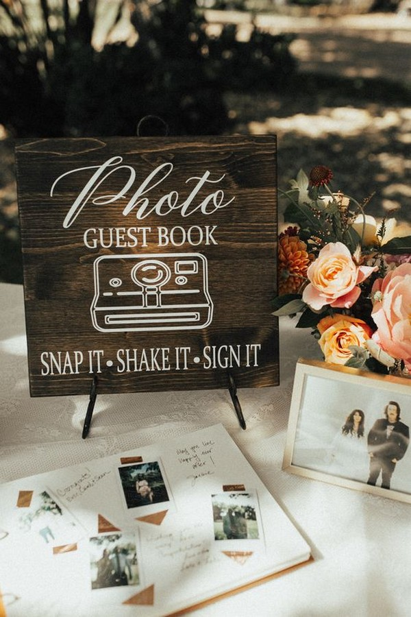 chic vintage wedding guest book ideas