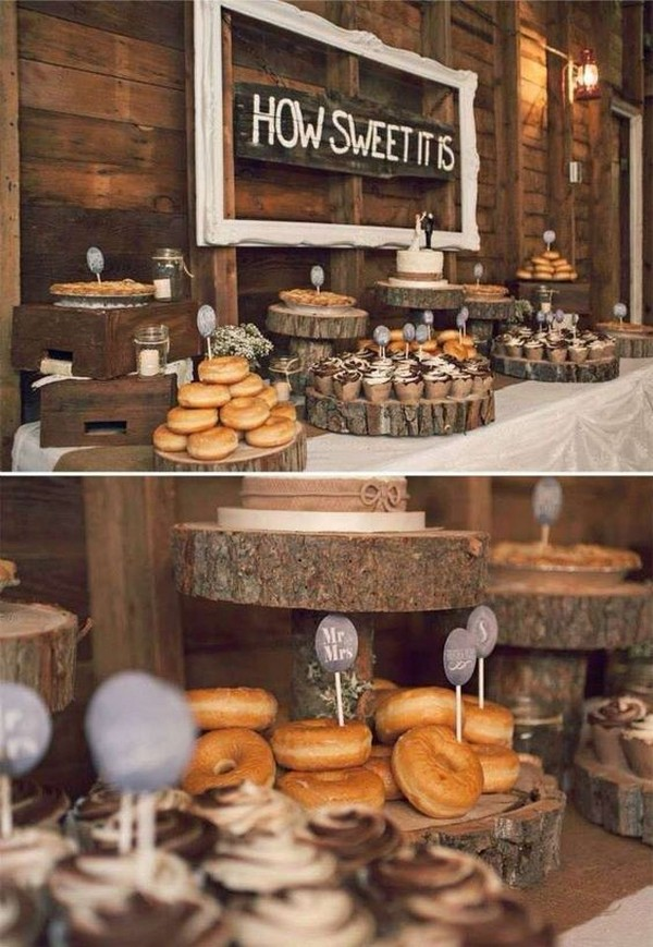 country rustic wedding food station ideas