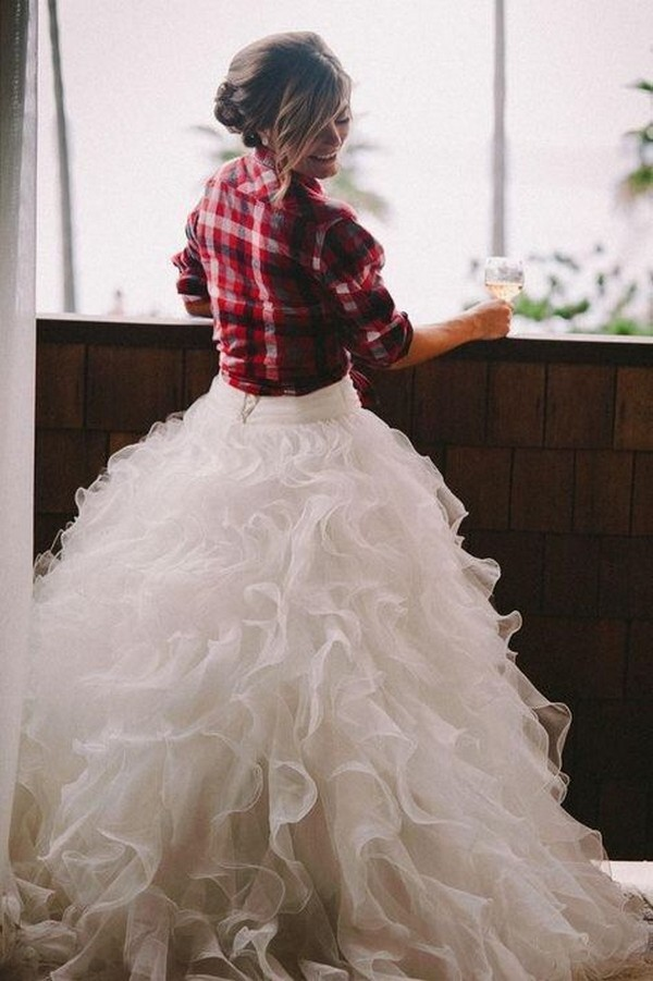 country wedding ball gown