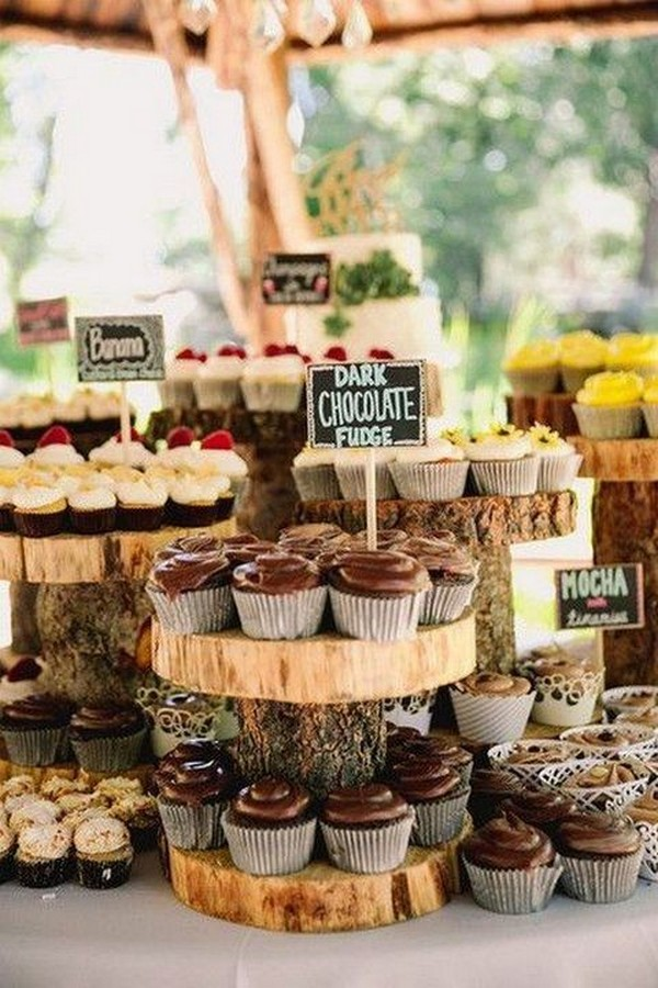 country wedding cake and food station ideas