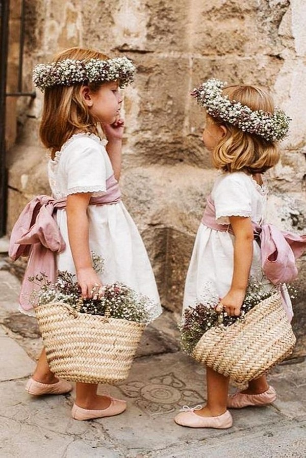 country wedding flower girl dresses