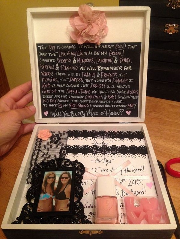 creative maid of honor proposal box ideas