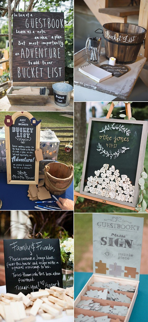 creative rustic wedding guest book ideas