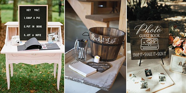 creative wedding guest book alternatives