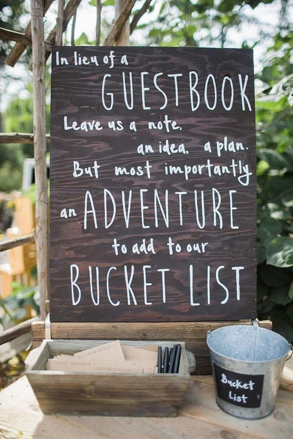 creative wedding guest book sign in ideas