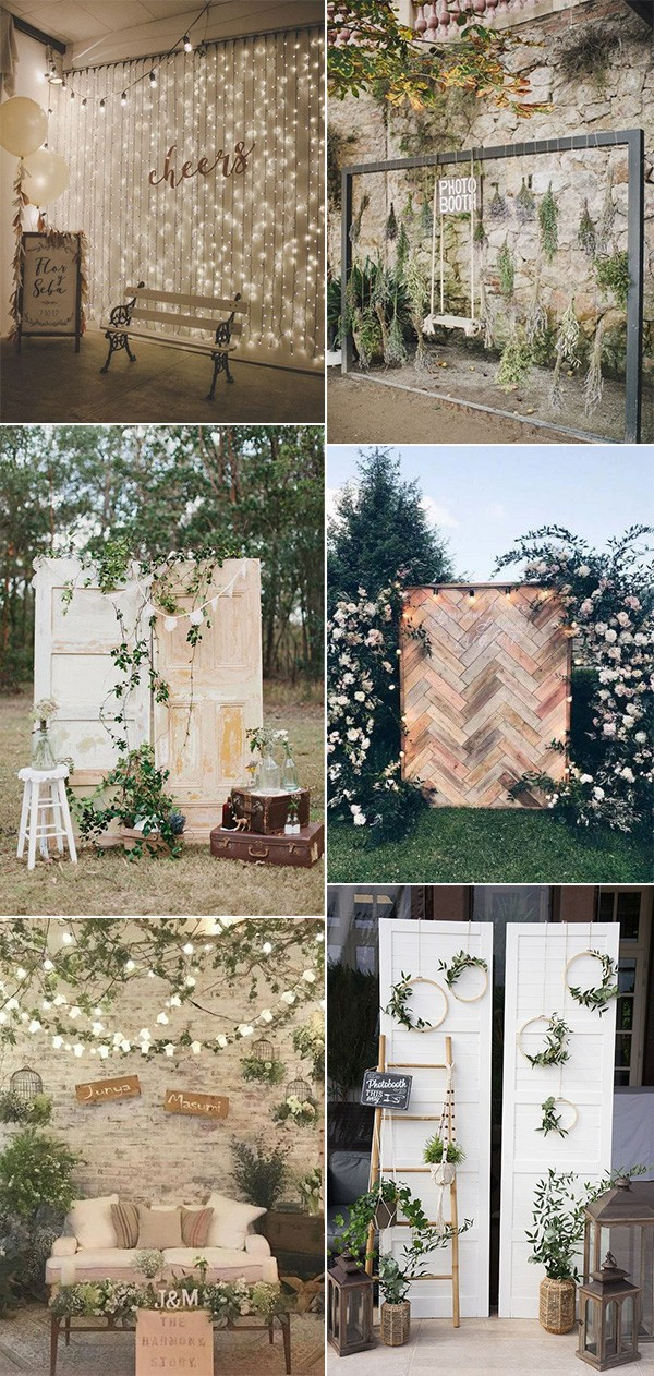 creative wedding photo booth ideas for 2019 trends