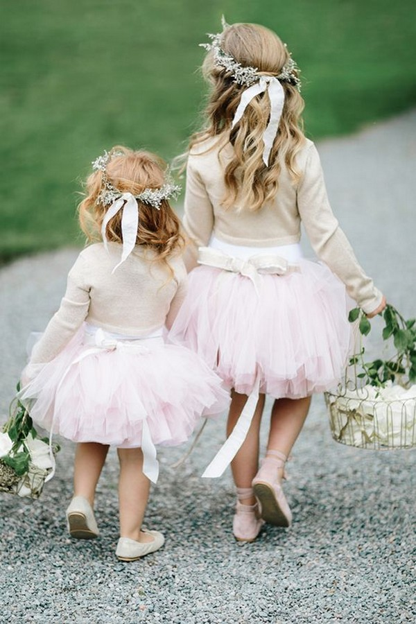 cute flower girl dresses and hairstyles with baby's breath