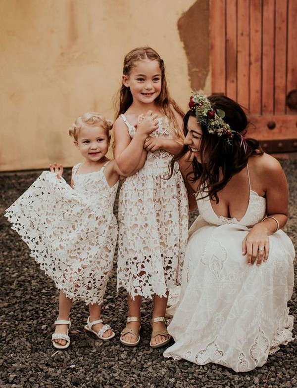 cute lace flower girl dresses