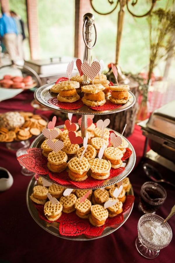delicious fall wedding reception food ideas