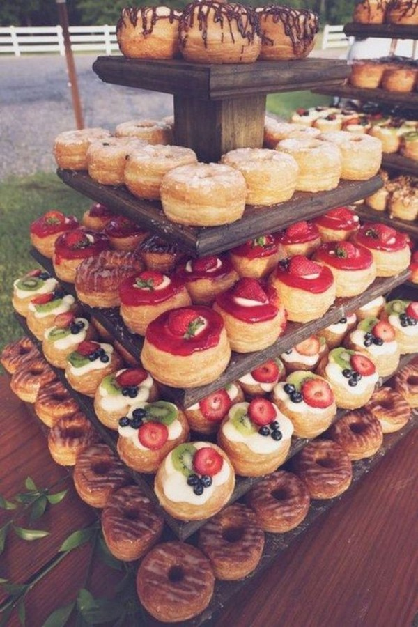donuts country fall wedding food ideas