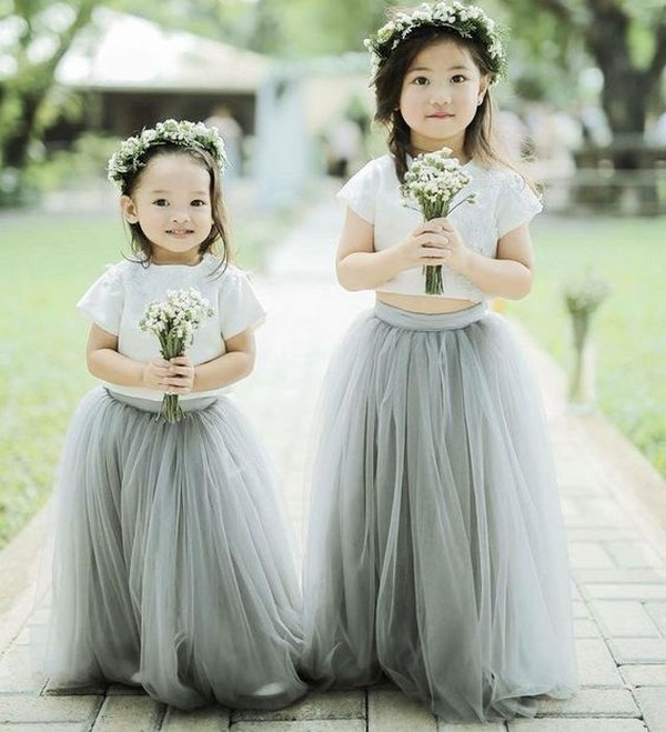 dusty tulle flower girl dresses