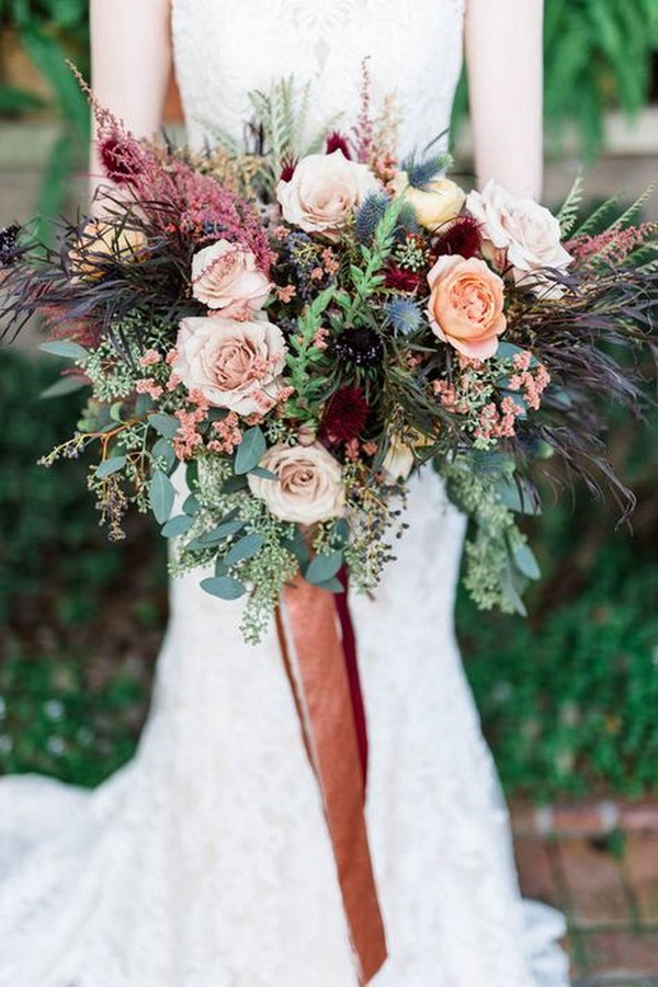 Fall Bridal Bouquet Pink