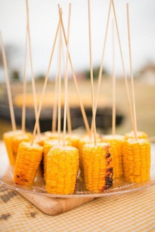 fall wedding reception food ideas corns