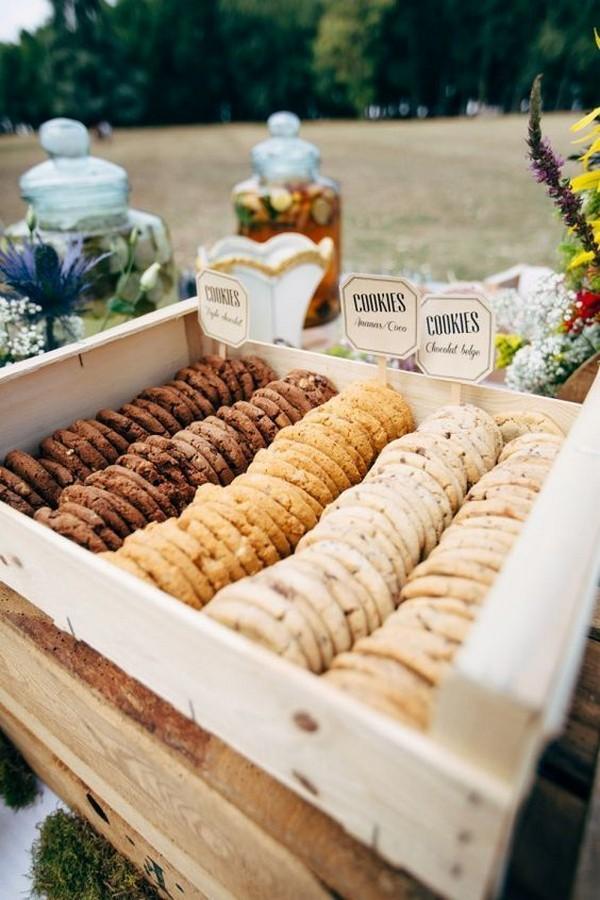 fall wedding reception food station ideas