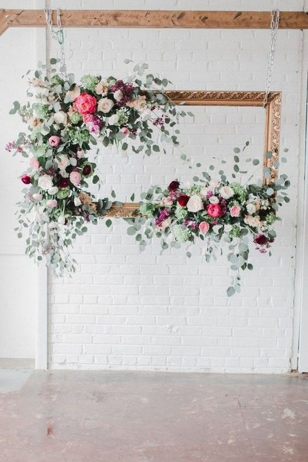 floral wedding photo booth ideas