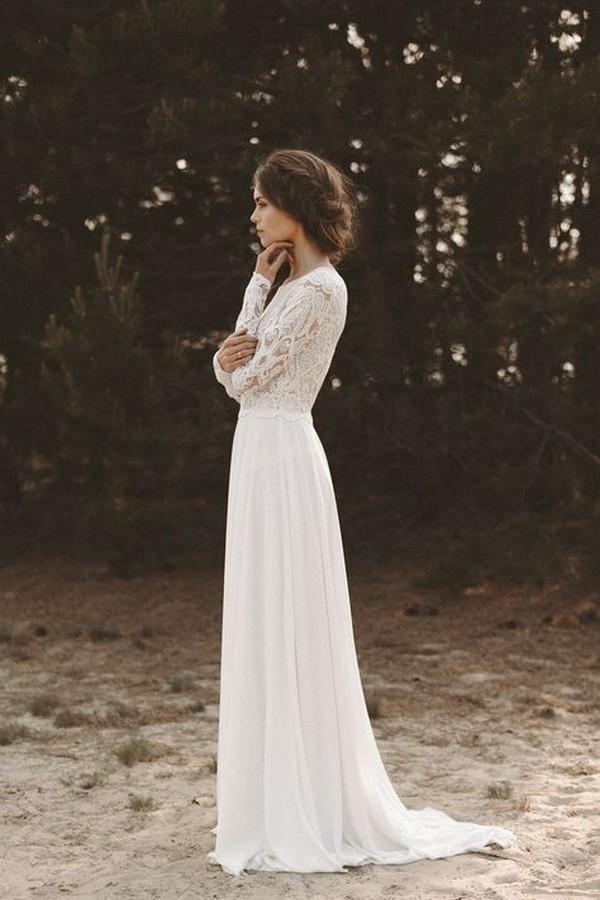 gorgeous lace wedding dress with long sleeves