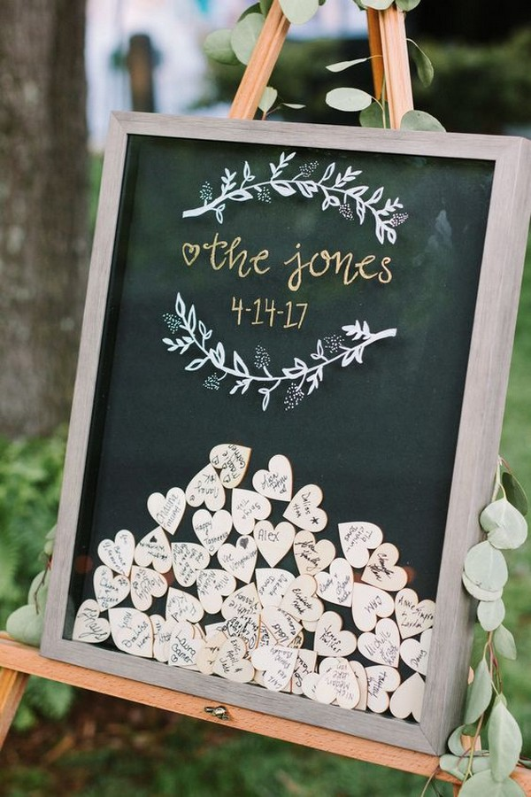 heart shaped notes wedding guest book ideas