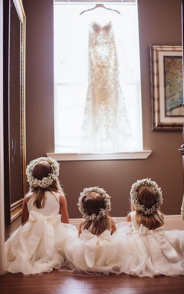 ivory flower girl dresses with back bows