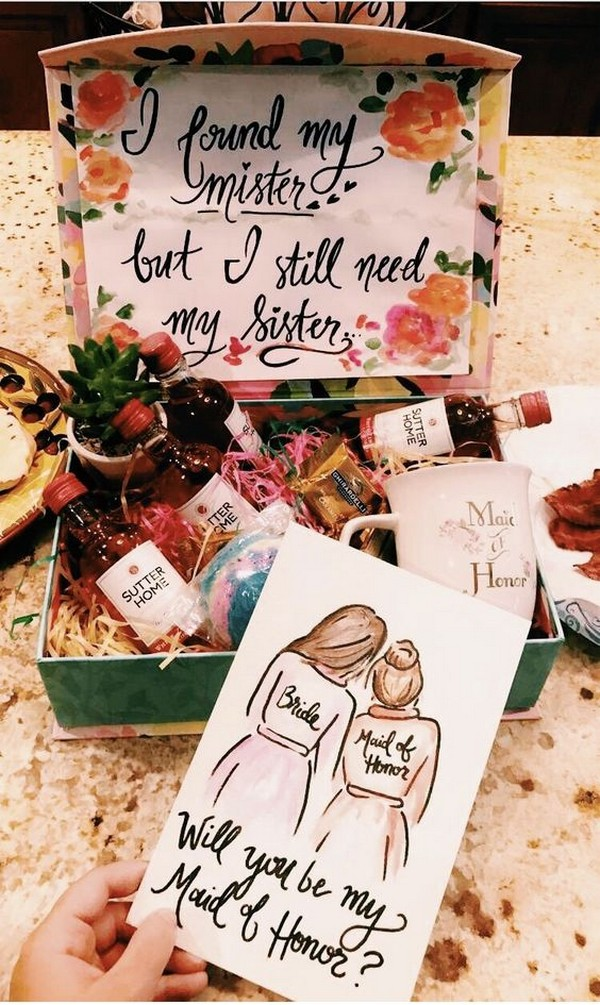 maid of honor proposal ideas for wedding